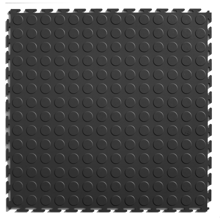 Blue Hawk Blue Hawk 20.5-in x 20.5-in Dark Gray Loose Lay Coin PVC Plastic Tile