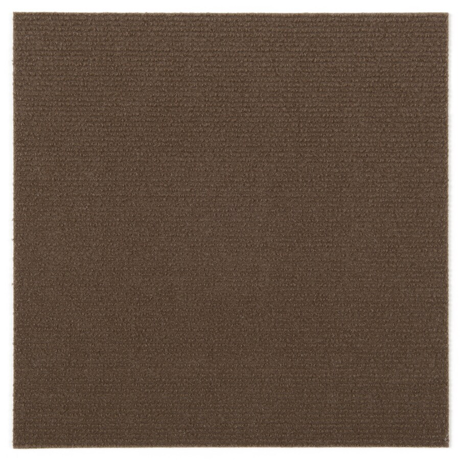 Triluc Place And Stick Tile Mats 4 Pack 12 In Brown Berber