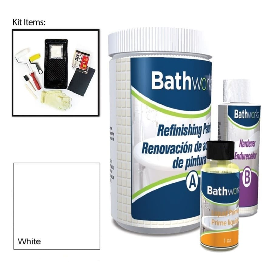 Bathworks White High-Gloss Tub and Tile Resurfacing Kit (Actual Net Contents: 20-fl oz)