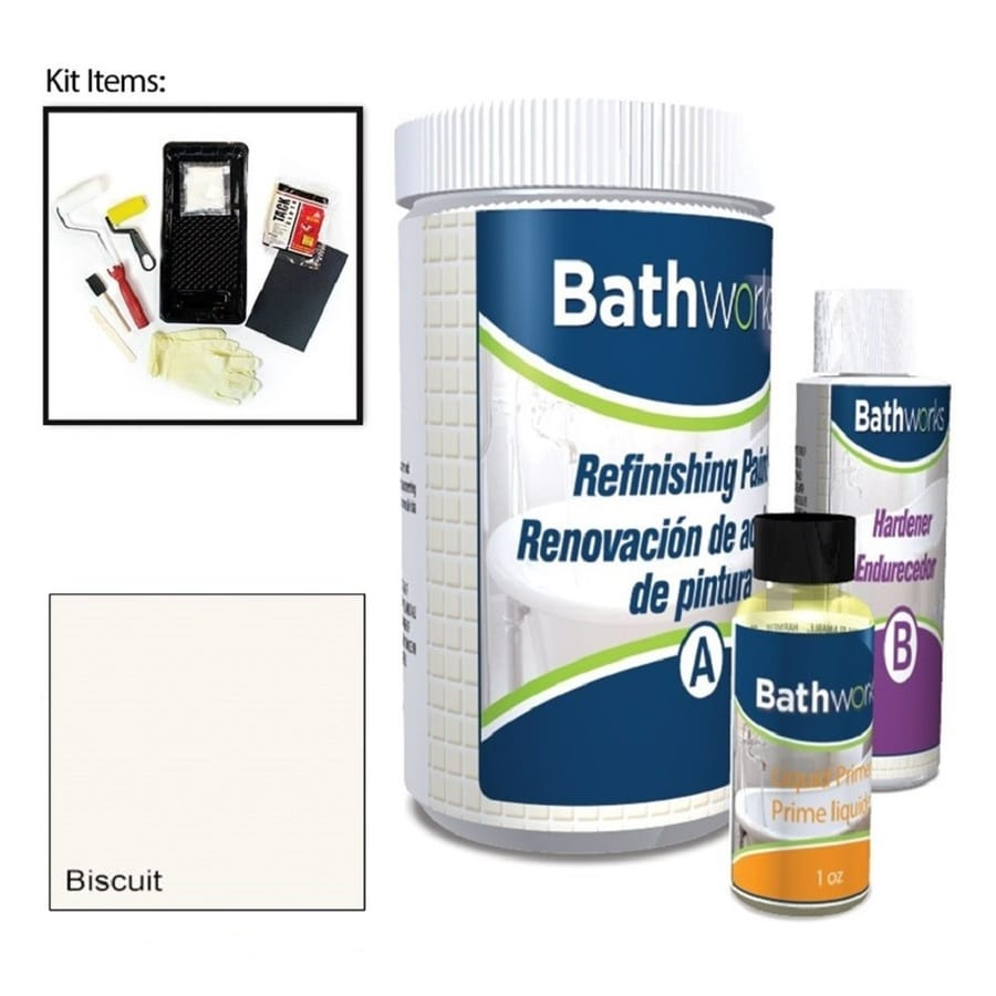 Bathworks Biscuit High-Gloss Tub and Tile Resurfacing Kit (Actual Net Contents: 20-fl oz)
