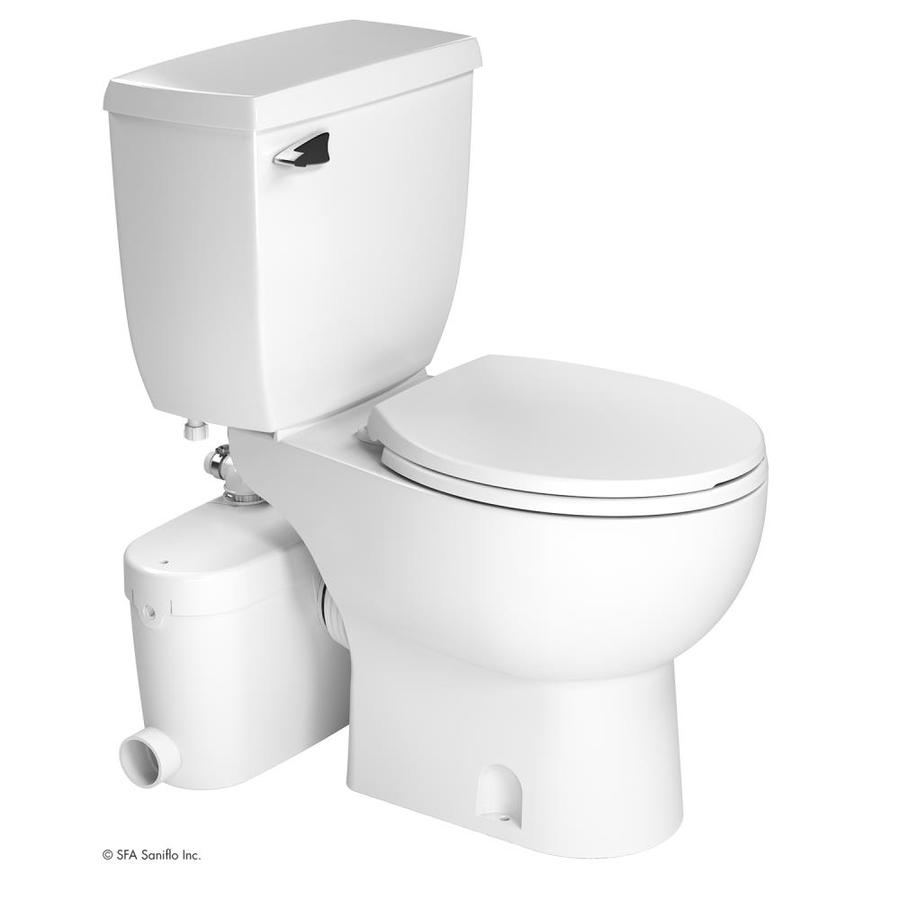 Shop SANIFLO SANIACCESS White WaterSense Labeled Round Chair Height - Lowes bathroom products