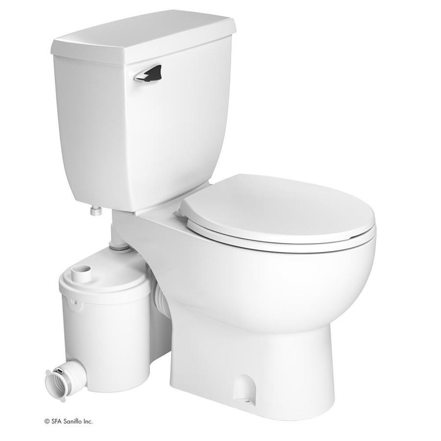 SANIFLO SANIBEST PRO 1.28-GPF (4.85-LPF) White Round Chair Height 2-piece Toilet