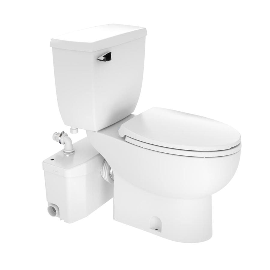 SANIFLO SANIPLUS White WaterSense Labeled  Elongated Chair Height 2-piece Toilet 12-in Rough-In Size