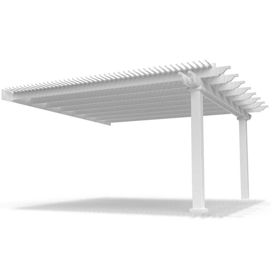 Modern Pergola Kits Modern Pergola Kit White Vinyl Attached Pergola In The Pergolas Department At Lowes Com