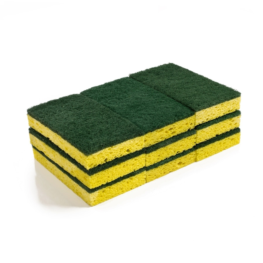 Style Selections 9-Pack Cellulose Sponge with Scouring Pad