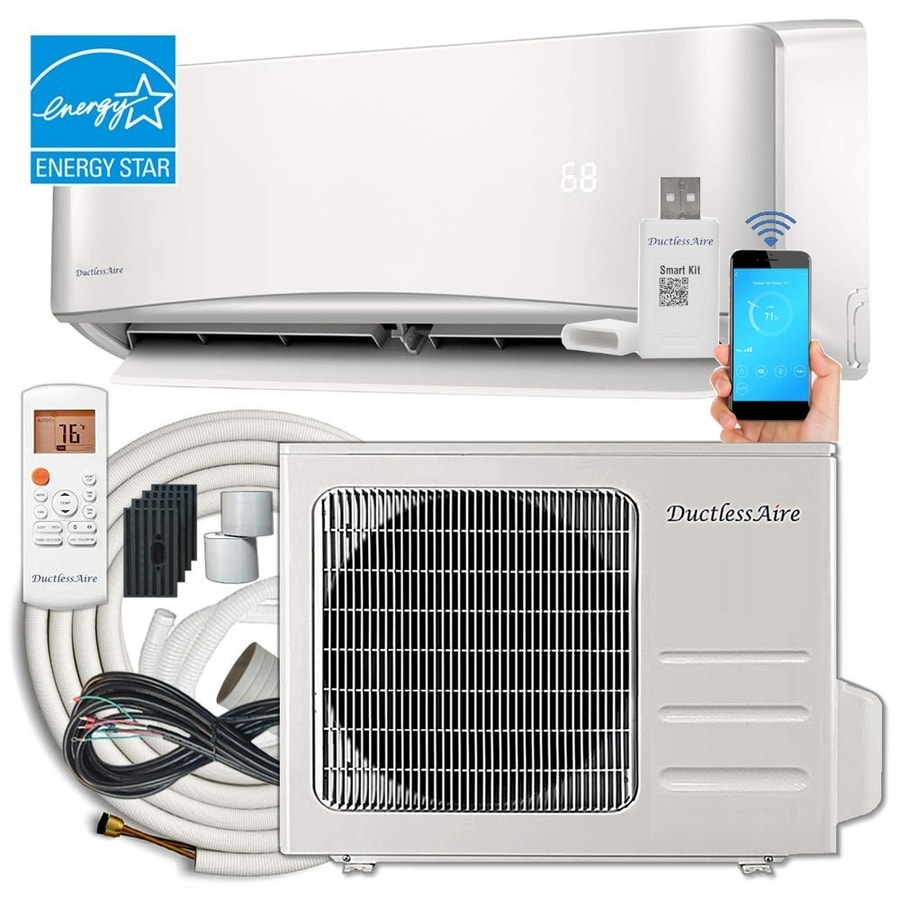 ductlessaire energy star 24000 btu 1000 sq ft single ductless mini split air conditioner - Air Conditioner And Heater