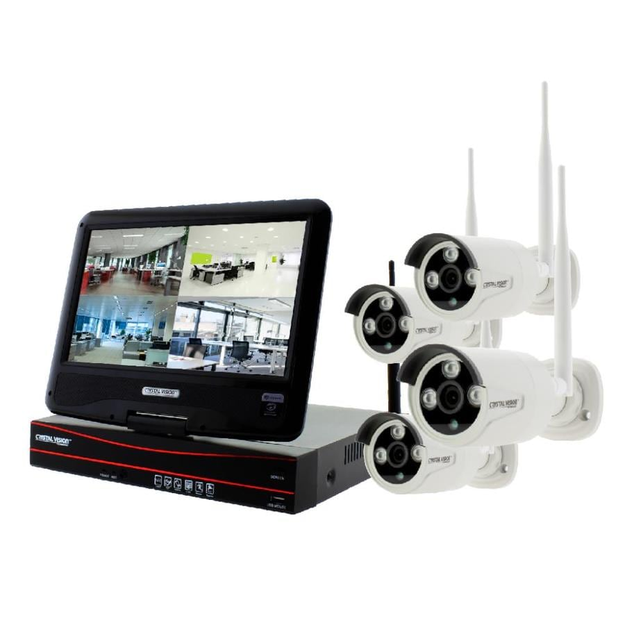 Cameras For Home Exterior: Crystal Vision True HD 4CH 10.1-in Digital Wireless