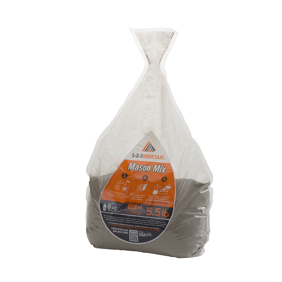 1-2-3Mortar Mason Mix 5.5-lb Gray Type- M Mortar Mix