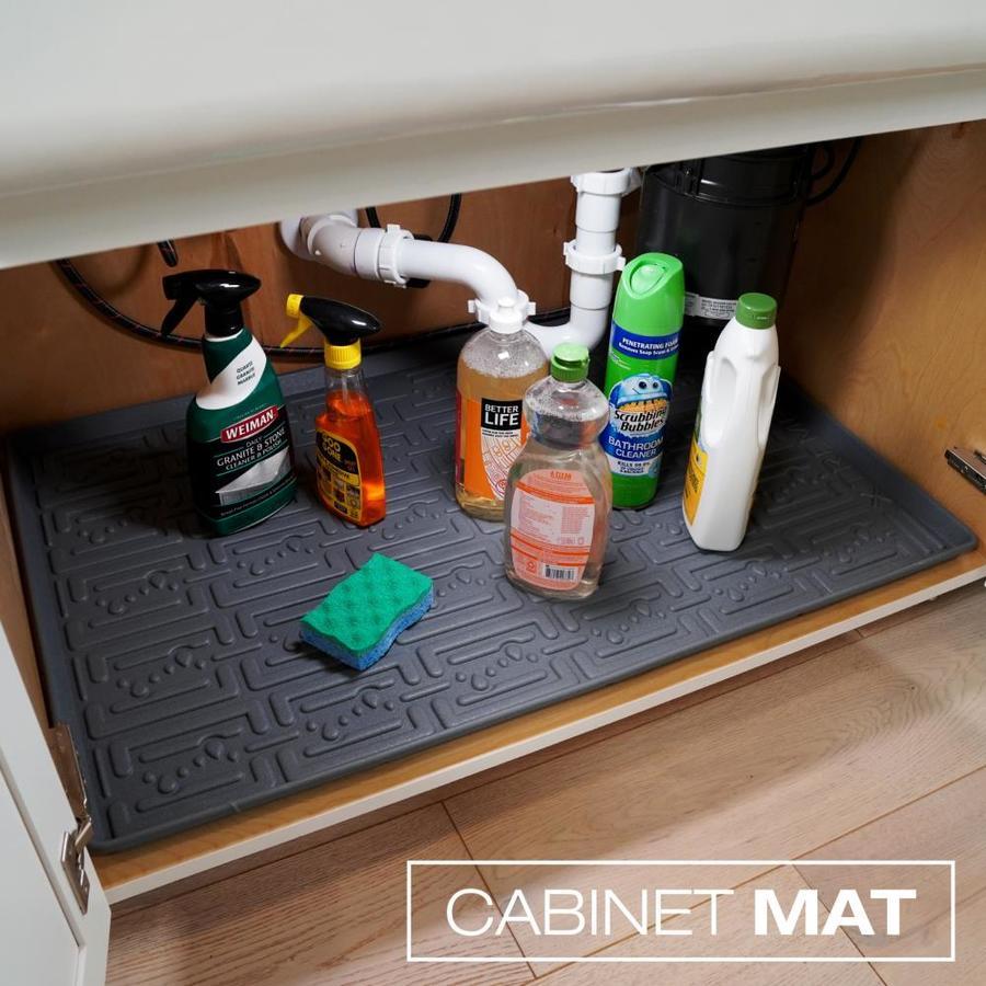 Xtreme Mats Kitchen 21 875 In X 36 5 8 Grey Undersink Cabinet Mat
