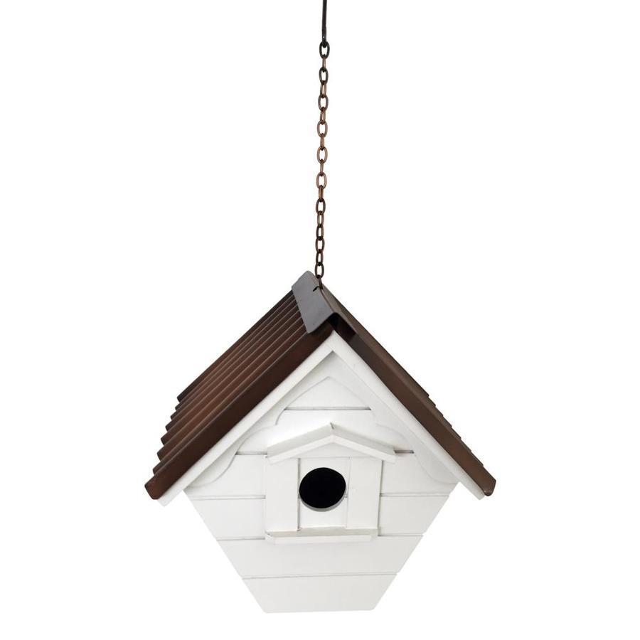 Backyard Glory 8.125-in W x 8.5-in H x 8-in D White Bird House