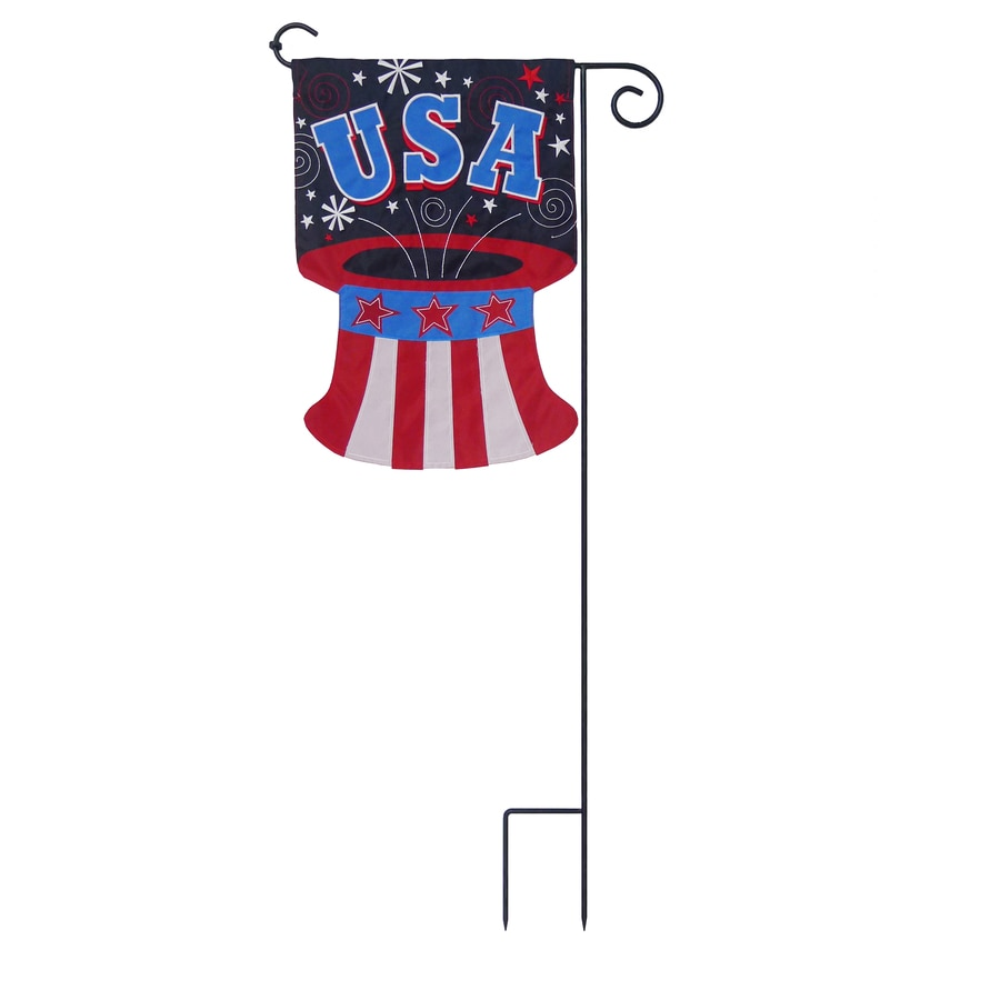 1-ft W x 1.5-ft H Patriotic Embroidered Garden Flag