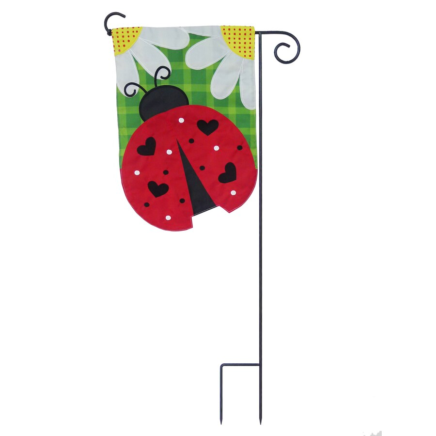 1-ft W x 1.5-ft H Bugs Embroidered Garden Flag
