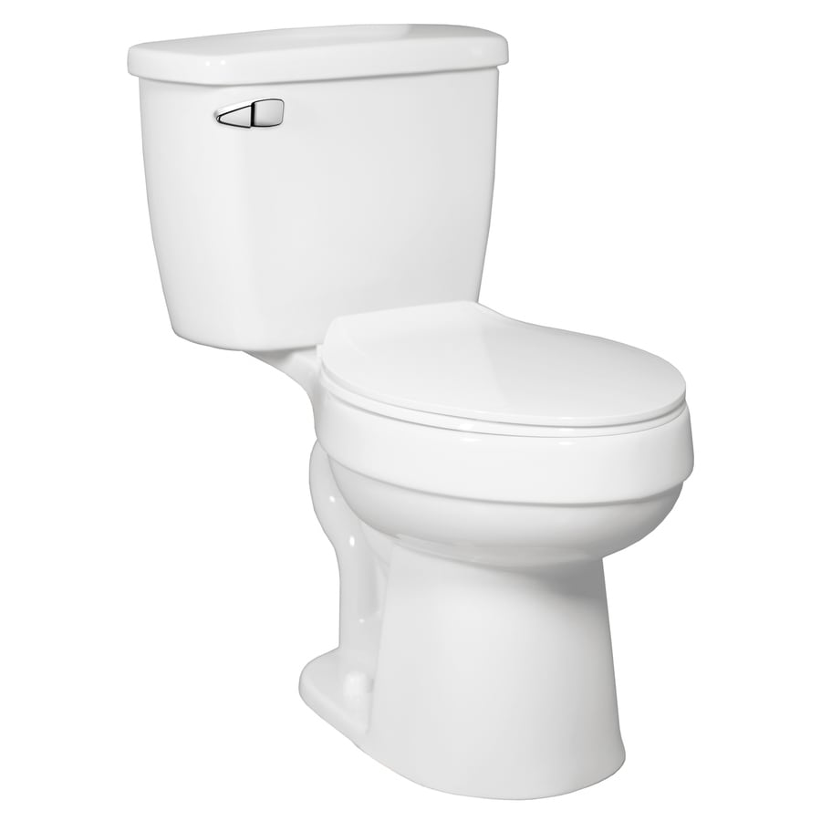 AquaSource Henshaw 1.28-GPF (4.85-LPF) White Elongated Chair Height 2-piece Toilet