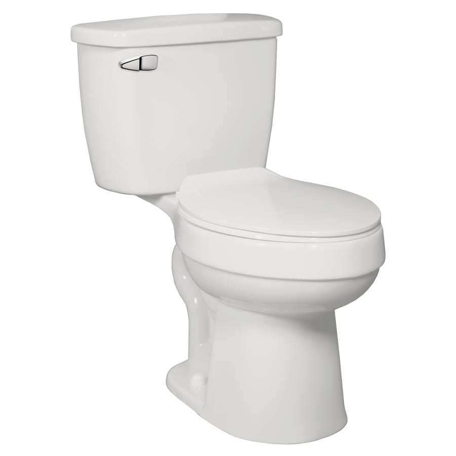 Henshaw 1.28-GPF (4.85-LPF) Oyster Elongated Chair Height 2-piece Toilet