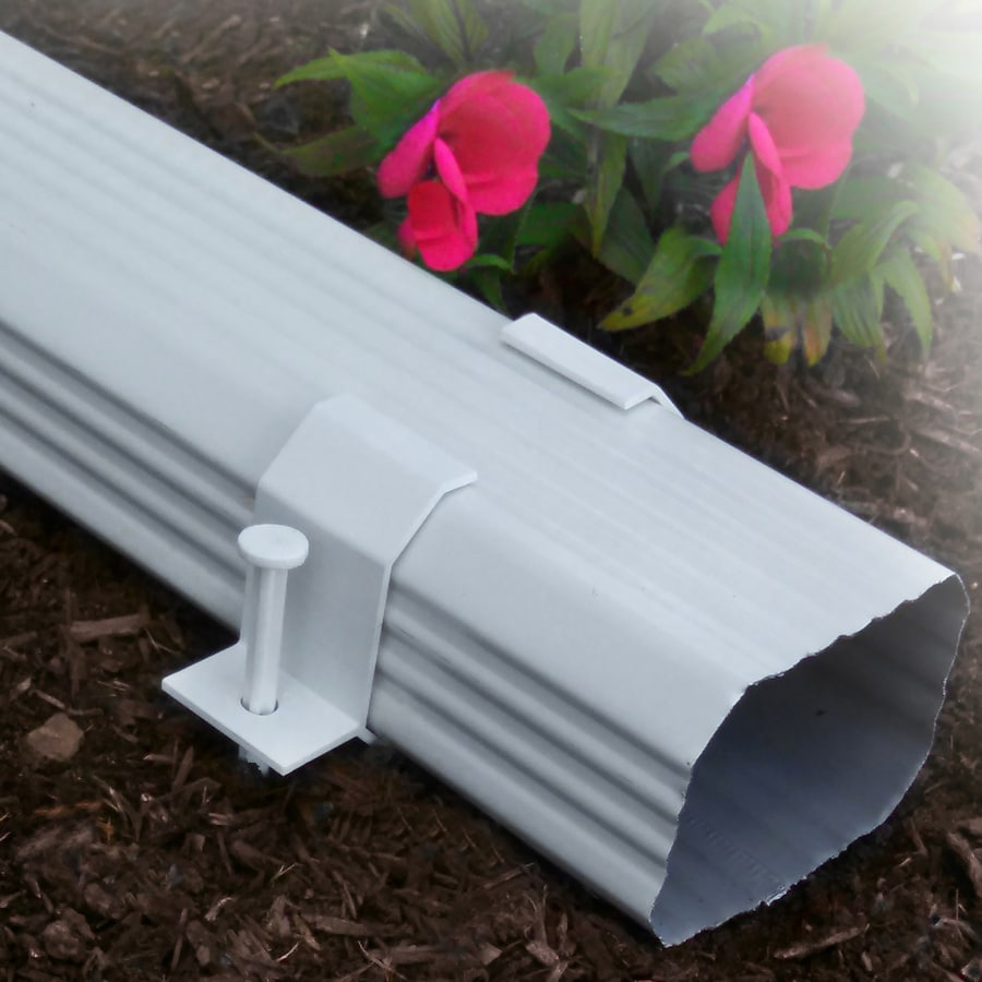 SPOUT ON 3.5-in White PVC Downspout Band