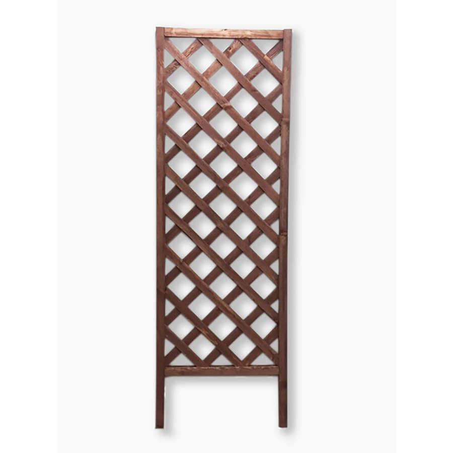 Shop 24 in W x 72 in H Brown Garden Trellis at Lowes