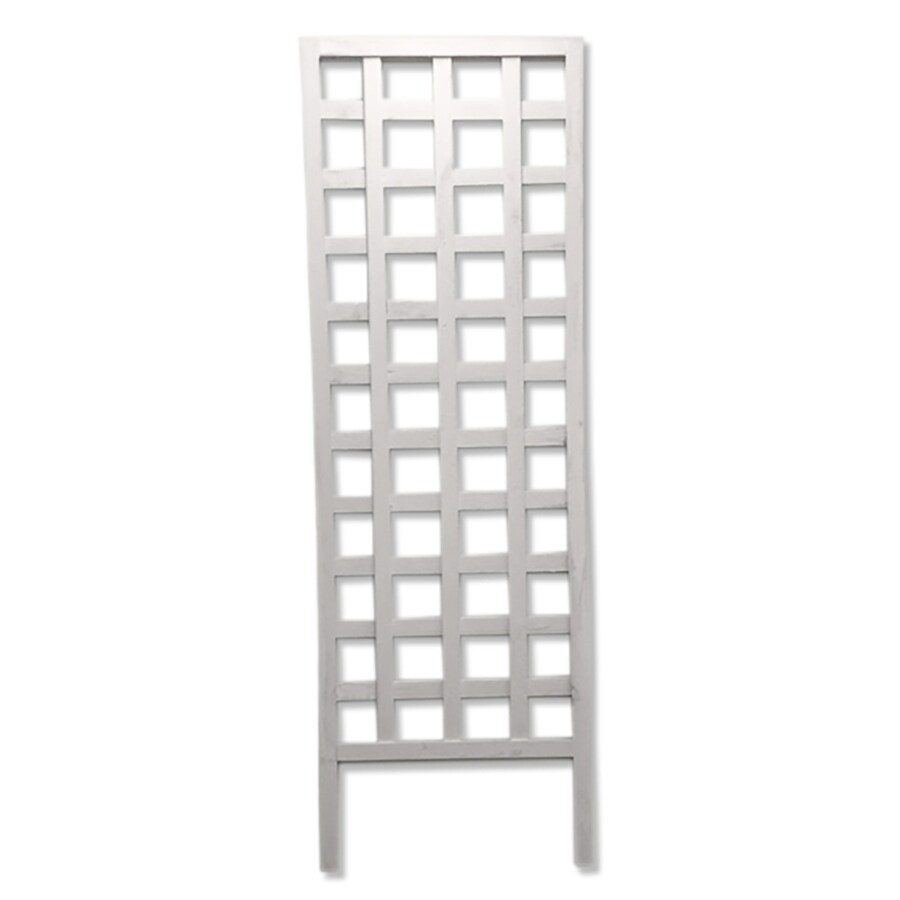 Shop 24 in W x 72 in H White Garden Trellis at Lowes