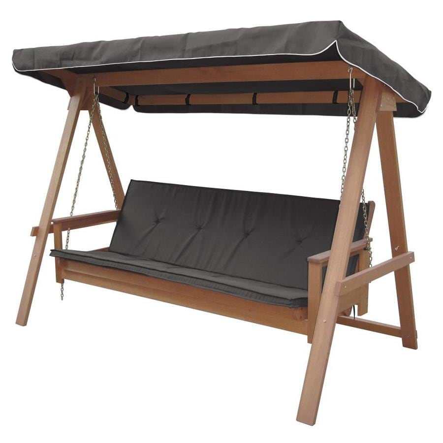 Lautan Avoca 3 Person Natural Shorea Outdoor Swing Bed At