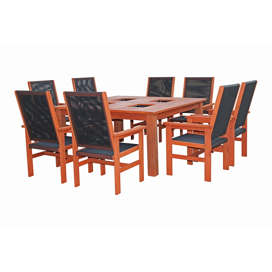 Lautan Kiama 61.75-in W x 61.5-in L Square Shorea Dining Table