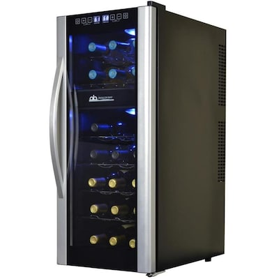 Avalon Bay 21 Bottle Black And Silver Dual Zone Cooling