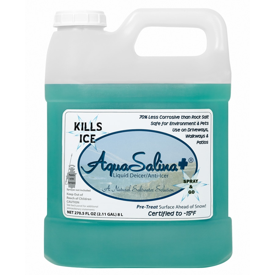 AquaSalina+ Liquid Deicer/Anti-Icer 8L (2.11 Gal) Bottle
