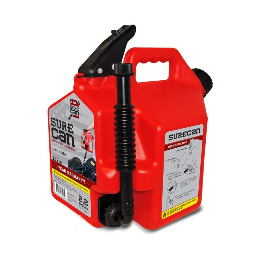 SureCan 2.2-Gallon Plastic Gas Can