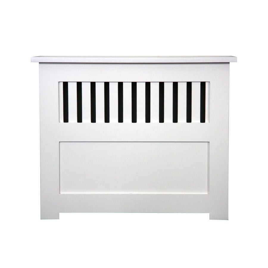 Fichman Furniture New England 29.5-in x 23.75-in White Radiator Cover