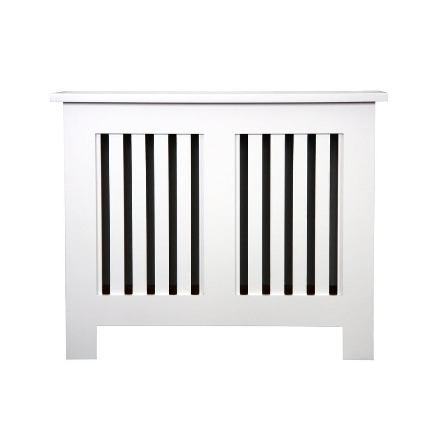 Fichman Furniture Shaker 29.5-in x 23.75-in White Radiator Cover