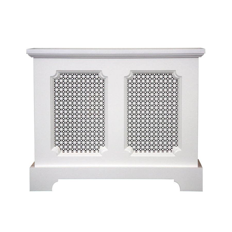 Fichman Furniture Lafayette 29.5-in x 23.75-in White Radiator Cover