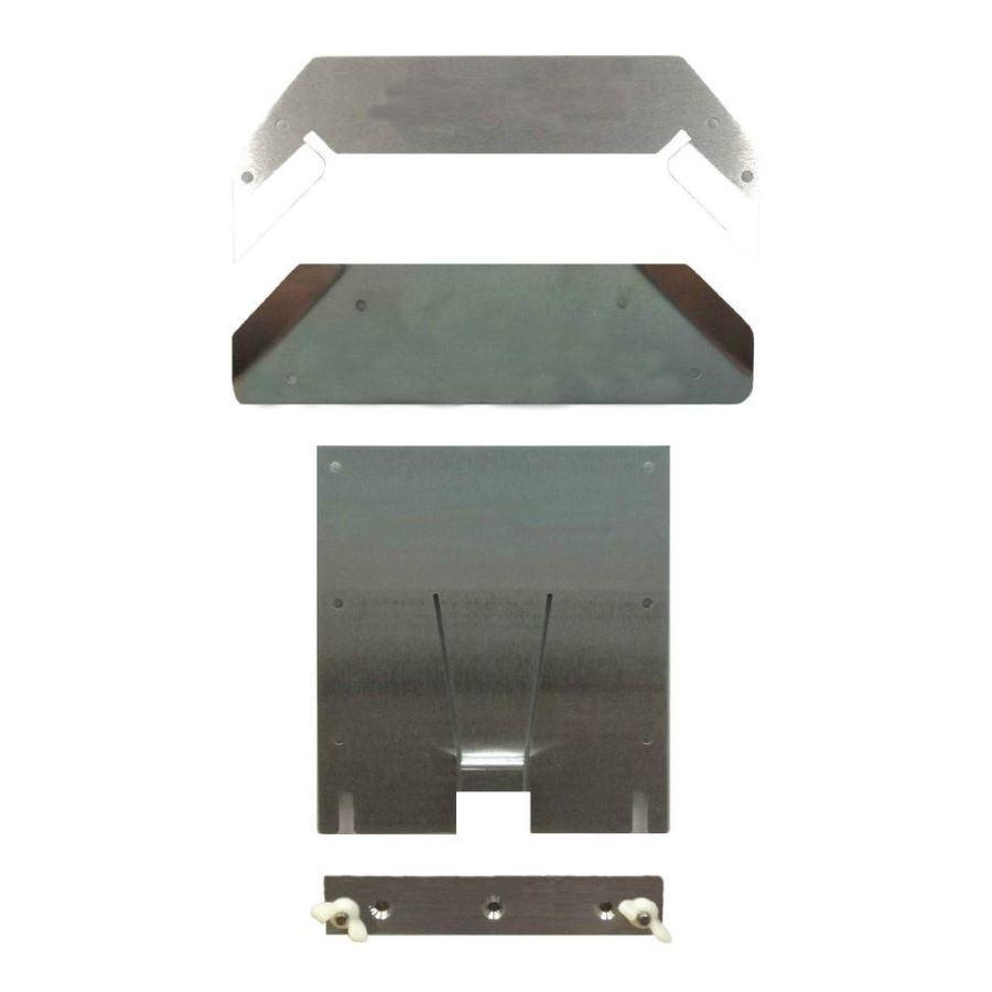 Dry Flush Silver Aluminum, Stainless Steel Mounting Kit