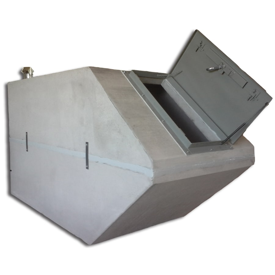 Allegiant Precast Concrete (Interior Dimensions: 4.58-ft x 11.08-ft x 5.67-ft) Concrete In-Ground Exterior Tornado Shelter
