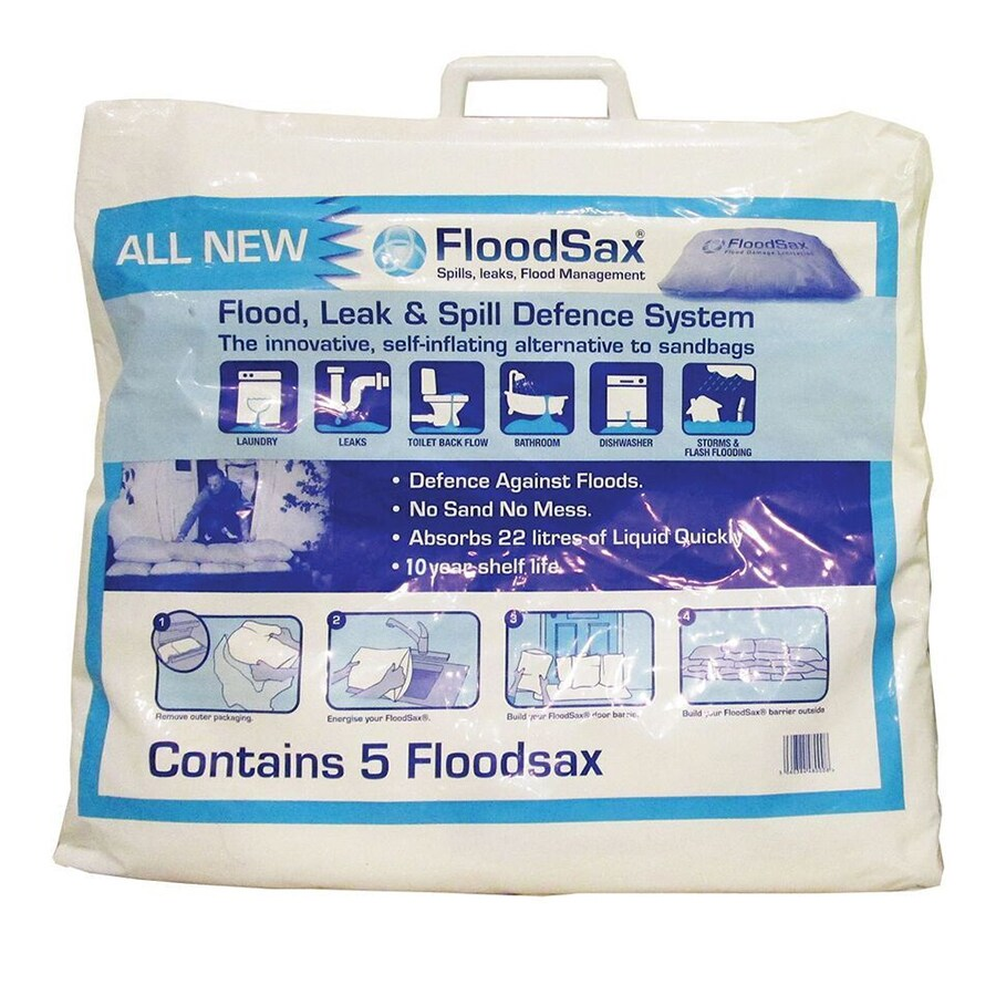 FloodSax 5-Pack 22-in L x 18.5-in W Self-Inflating Flood Bags