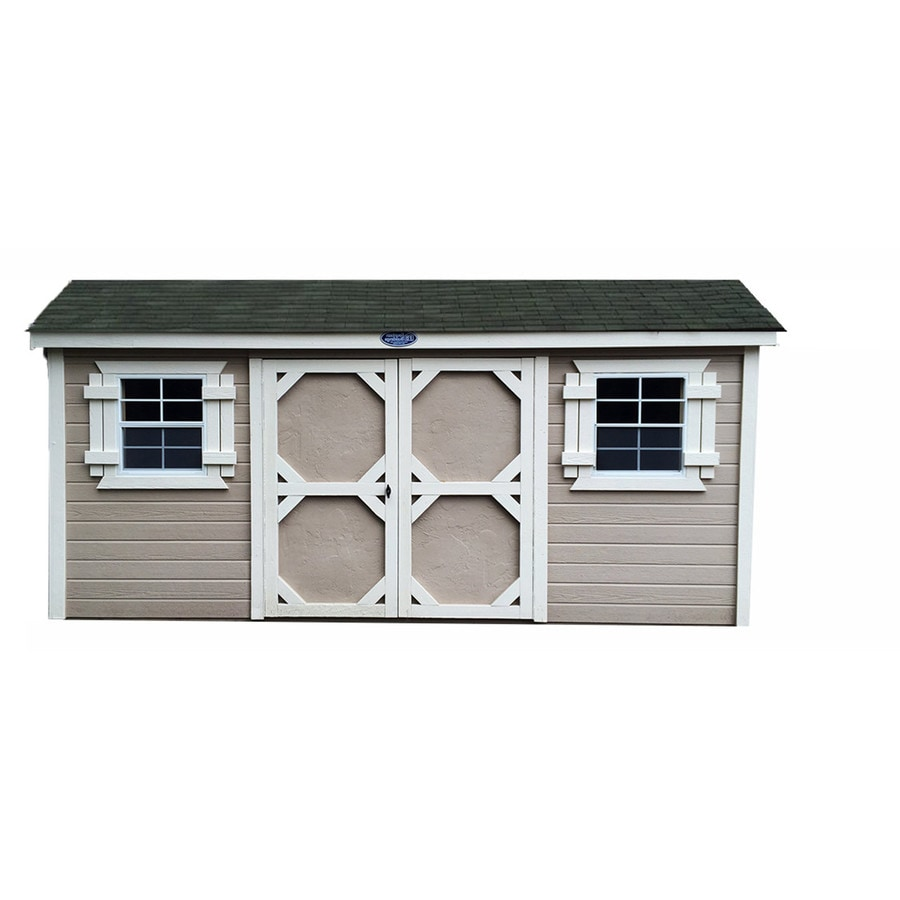Fountain Buildings Gable Engineered Wood Storage Shed (Common: 10-ft x 16-ft; Interior Dimensions: 10-ft x 16-ft)