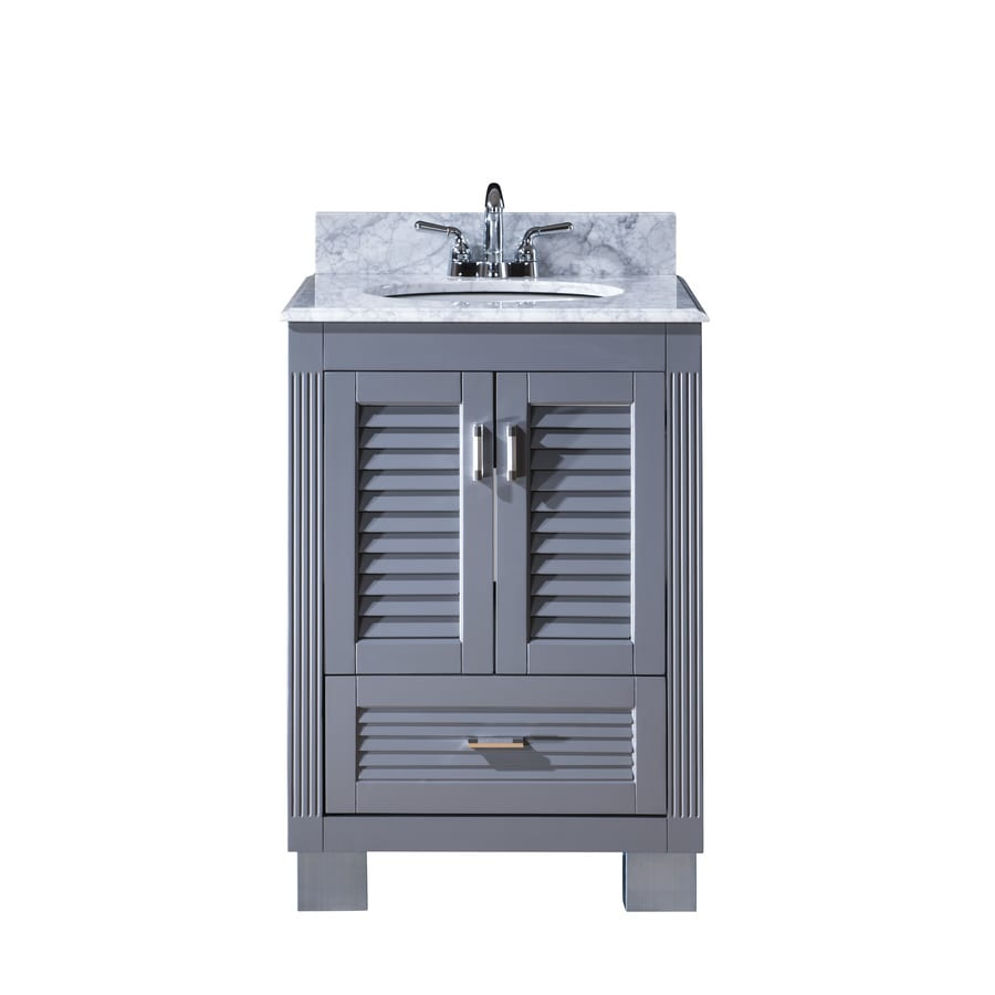 Bathroom Vanity 24 X 21 shop venus grey undermount single sink bathroom vanity with