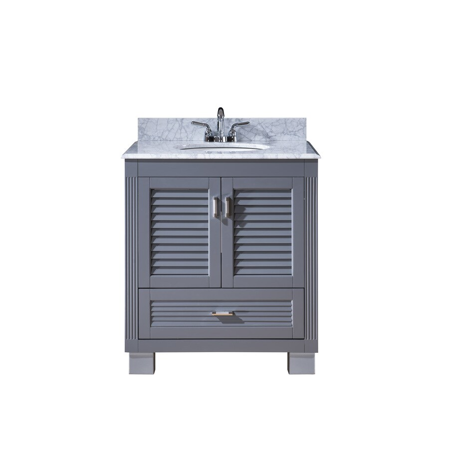 Bathroom Vanity 30 X 21 shop venus grey undermount single sink bathroom vanity with