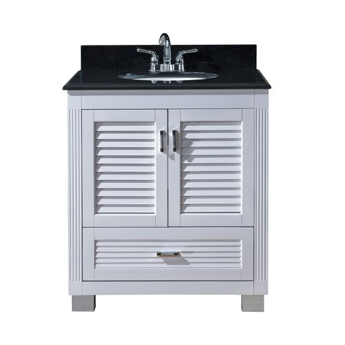 Venus White Undermount Single Sink Bathroom Vanity with ...