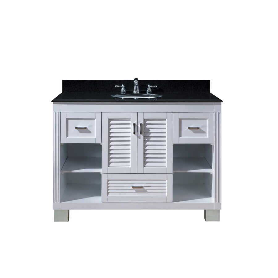 Venus White Undermount Single Sink Bathroom Vanity with Granite Top (Common: 48-in x 21-in; Actual: 49-in x 22-in)