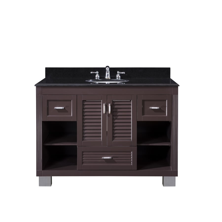 Venus Espresso Undermount Single Sink Bathroom Vanity with Granite Top (Common: 48-in x 21-in; Actual: 49-in x 22-in)