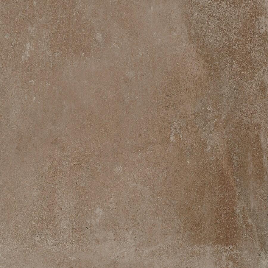 FLOORS 2000 Metropolitan 7-Pack Brown Porcelain Floor and Wall Tile (Common: 18-in x 18-in; Actual: 17.72-in x 17.72-in)