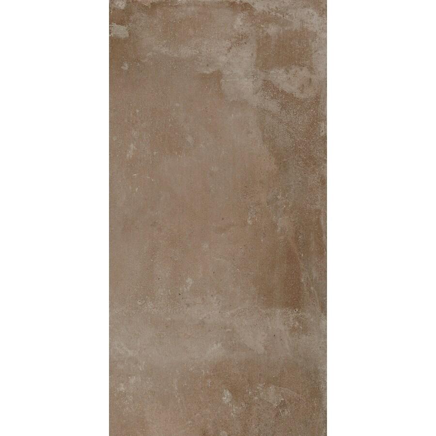 FLOORS 2000 Metropolitan 6-Pack Brown Porcelain Floor and Wall Tile (Common: 12-in x 24-in; Actual: 23.63-in x 11.81-in)