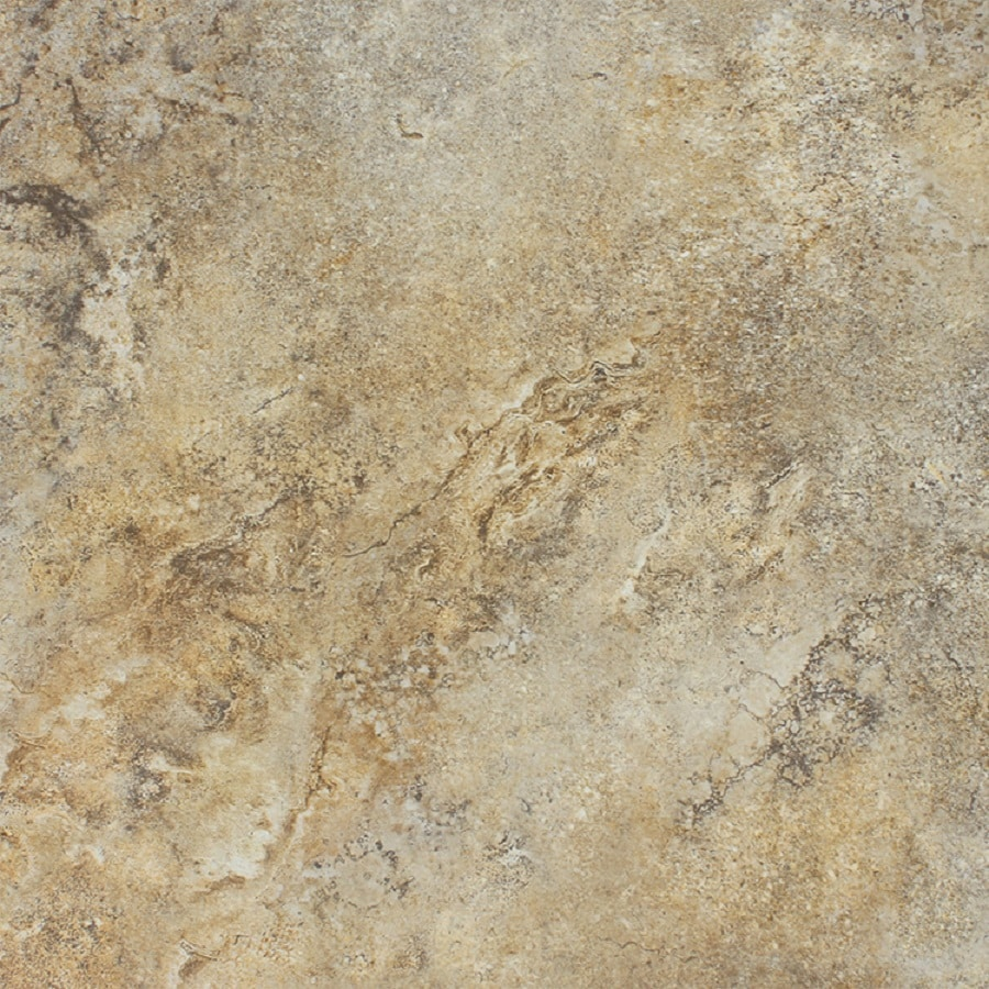FLOORS 2000 7-Pack Marmaris 502 Beige Glazed Porcelain Floor Tile (Common: 18-in x 18-in; Actual: 17.72-in x 17.72-in)
