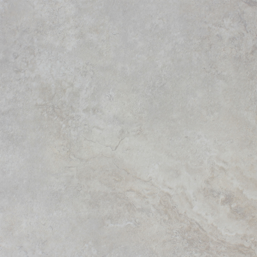 FLOORS 2000 Marmaris 7-Pack White Porcelain Floor and Wall Tile (Common: 18-in x 18-in; Actual: 17.72-in x 17.72-in)