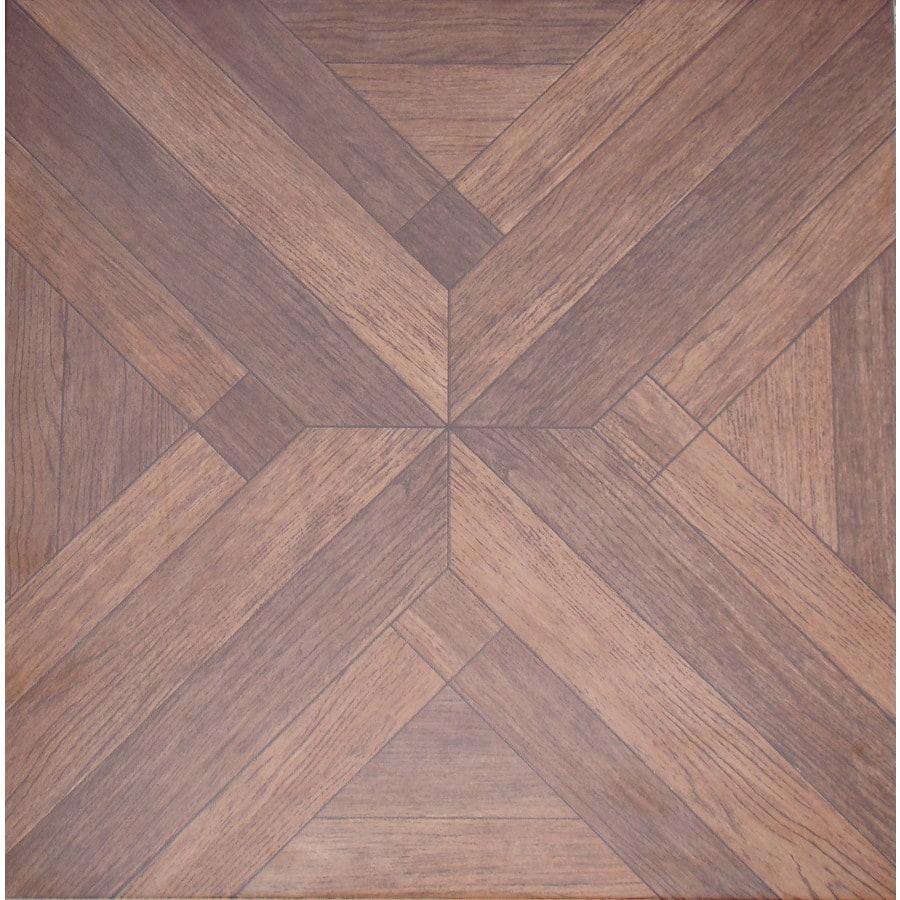 FLOORS 2000 Bolero 7-Pack Beige Wood Look Porcelain Floor and Wall Tile (Common: 18-in x 18-in; Actual: 17.72-in x 17.72-in)