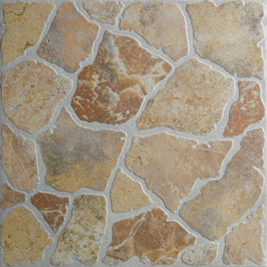 Shop floors 2000 7 pack stone henge rosso glazed porcelain for Exterior floor tiles