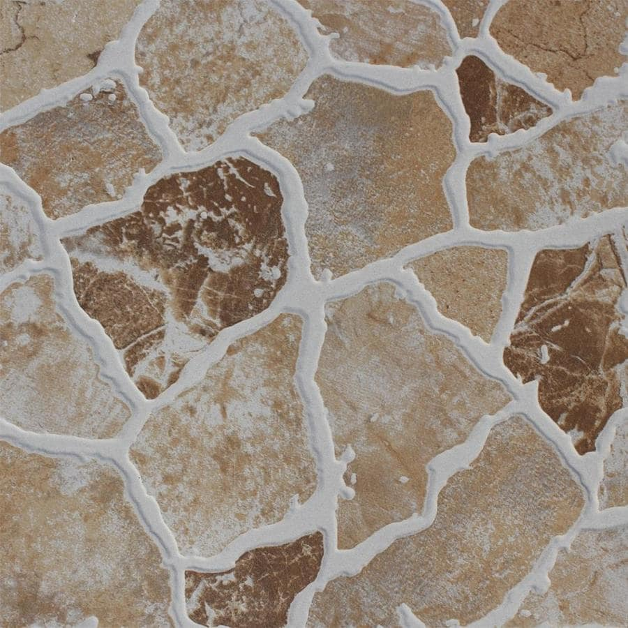 FLOORS 2000 7-Pack Stone Henge Beige Glazed Porcelain Indoor/Outdoor Floor Tile (Common: 18-in x 18-in; Actual: 17.72-in x 17.72-in)