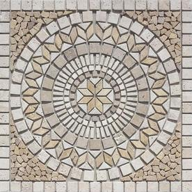 Style Selections Medallions Multi Colored Mosaic Travertine Floor Tile Common 36 In X