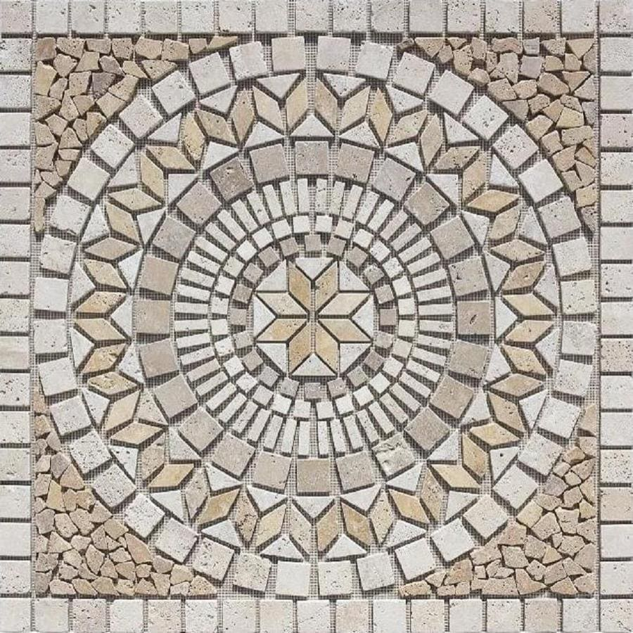Marmaris 502 Color Mosaic Travertine Floor Tile Common 36 In X
