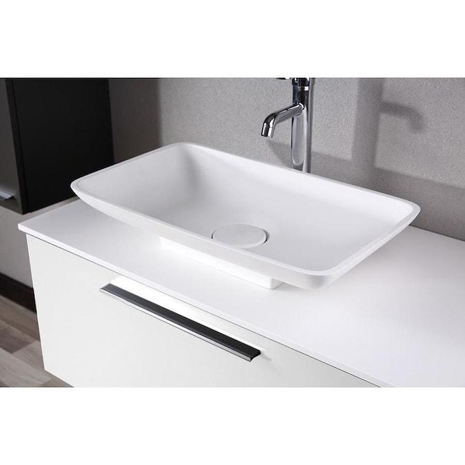 Casa Mare Modern 40-in White Single Sink Bathroom Vanity ...