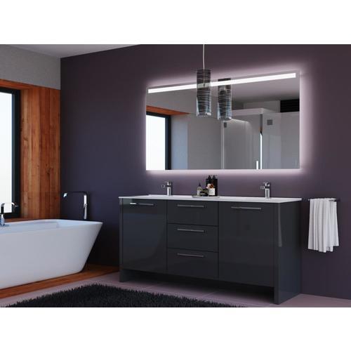 Casa Mare Modern 72-in Gray Double Sink Bathroom Vanity ...