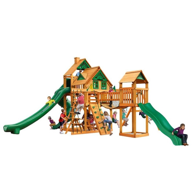 Gorilla Playsets Treasure Trove Ii Treehouse Residential Wood